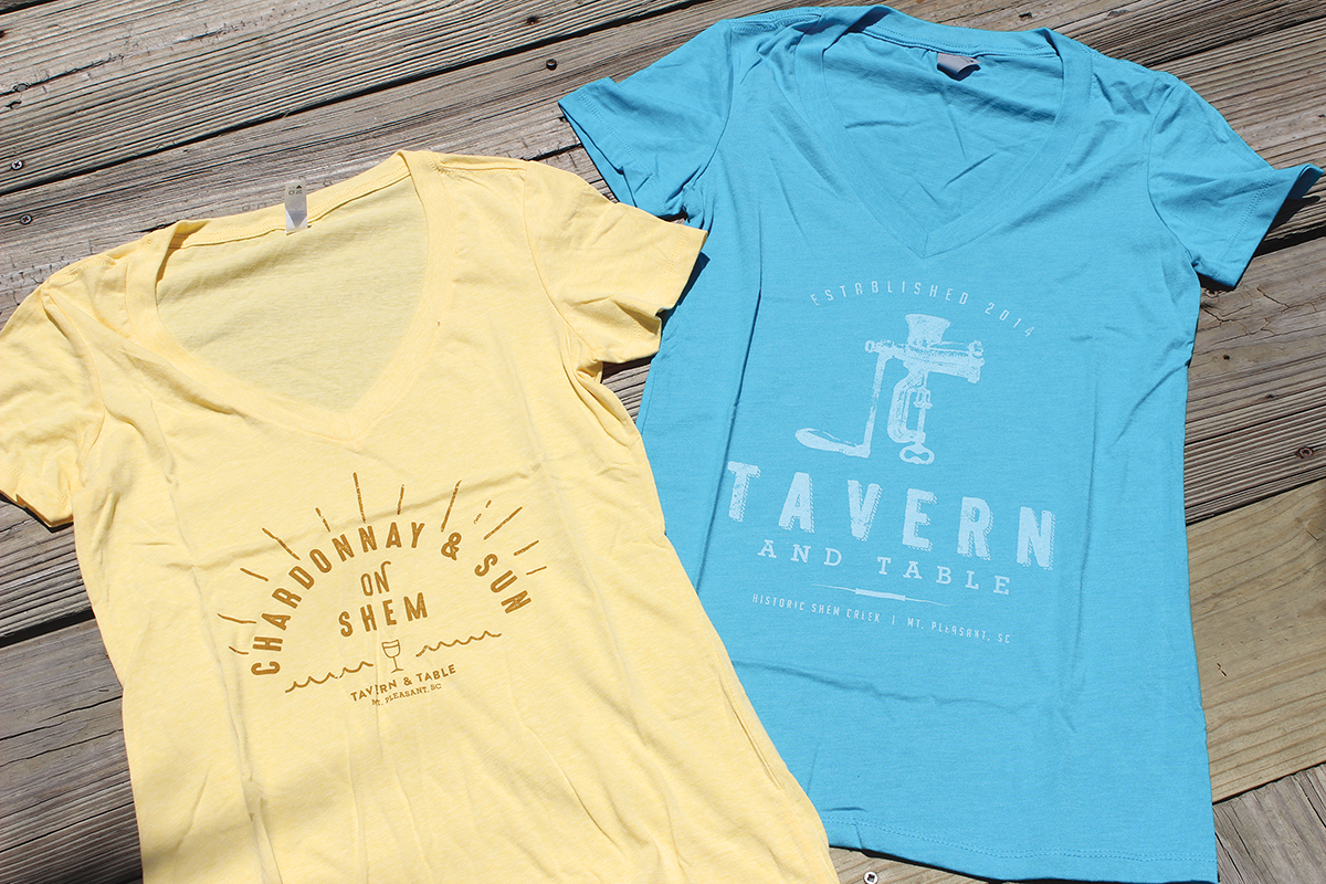 Shirt design course - We Re Excited To Share Our Recent Custom T Shirt Designs For Tavern Table Of Course We Like The Traditional Logo Shirts But We Re Especially Fond Of Our